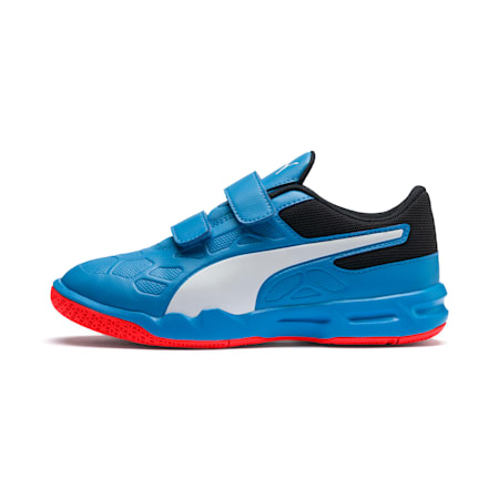 Tenaz V Youth Shoes, Bleu Azur-White-Black-Red, small-IND