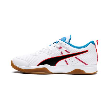 PUMA Stoker.18 Indoor Training Shoes, White-Black-Red-Bleu-Gum, small-SEA