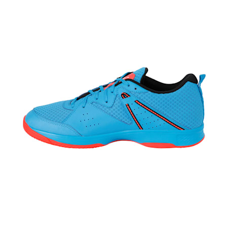 PUMA Stoker.18 Indoor Training Shoes, Bleu Azur-White-Black-Red, small-IND