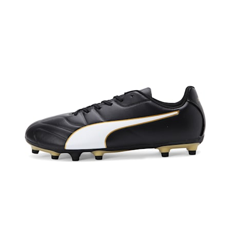 Classico C II FG Men's Football Boots, Black-White-Gold, small-IND