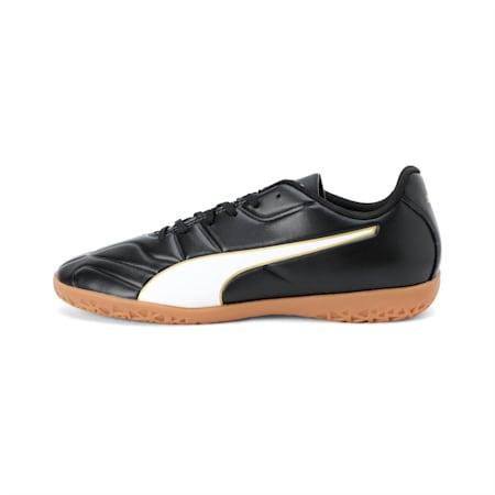 Classico C II Men's Football Boots, Puma Black-Puma White-Gold, small-IND