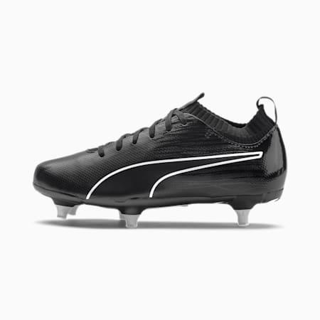 FTB II evoKNIT SG Youth Fußballschuhe, Puma Black-Black-Puma Silver, small