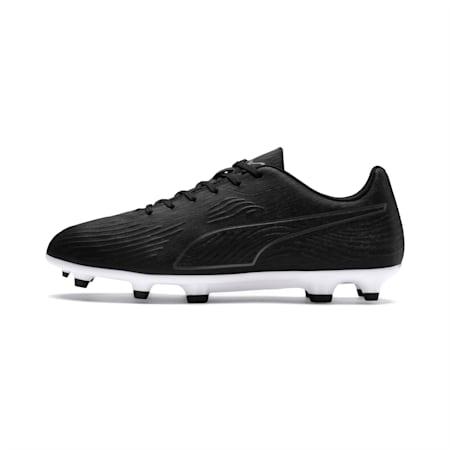 PUMA ONE 19.4 FG/AG Men's Football Boots, Puma Black-Puma Black-White, small-IND