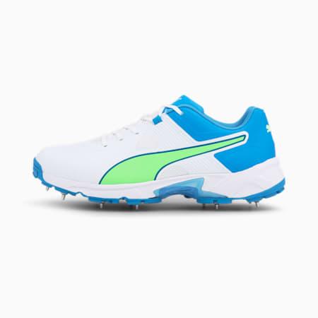 Chaussure de cricket PUMA Spike 19.1 pour homme, Puma White-Nrgy Blue-Green, small
