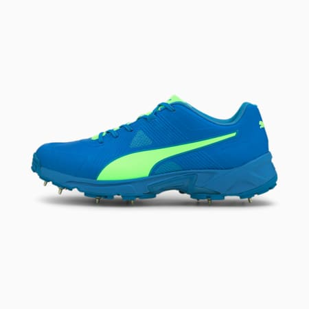 PUMA Spike 19.1 Men's Cricket Shoes, Elektro Green-Nrgy Blue, small-IND