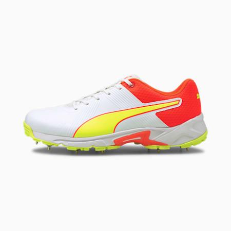 PUMA Spike 19.2 Men's Cricket Boots, Red Blast-Yellow Alert-Puma White, small-IND