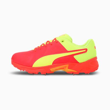 PUMA Spike 19.2 Men's Cricket Boots, Red Blast-Yellow Alert, small-IND