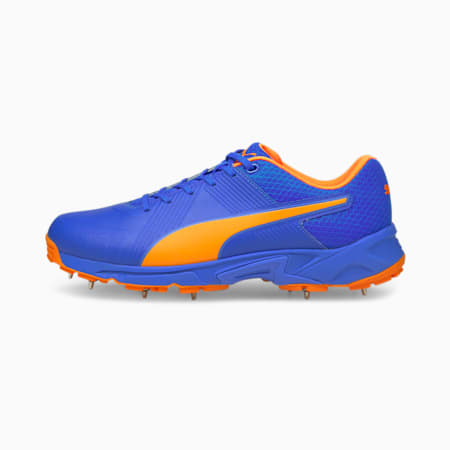 PUMA Spike 19.2 Men's Cricket Boots, Bluemazing-Orange Glow, small-IND