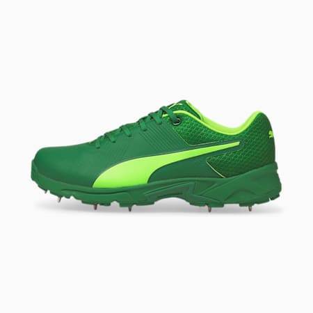 PUMA Spike 19.2 Men's Cricket Boots, Amazon Green-Green Glare, small-IND