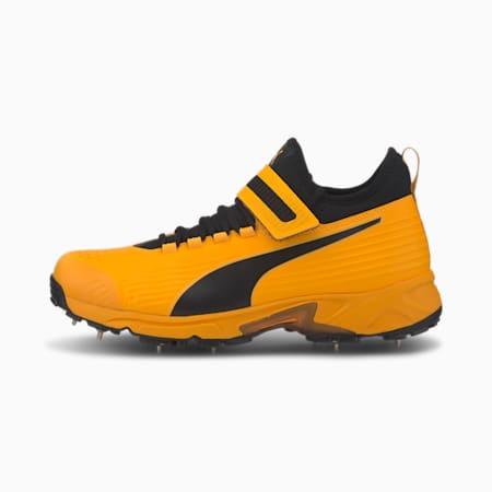 PUMA 19.1 Bowling Men's Cricket Shoes, Orange Alert-Puma Black, small-IND