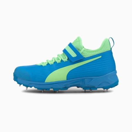 PUMA 19.1 Bowling Men's Cricket Shoes, Nrgy Blue-Elektro Green, small-IND
