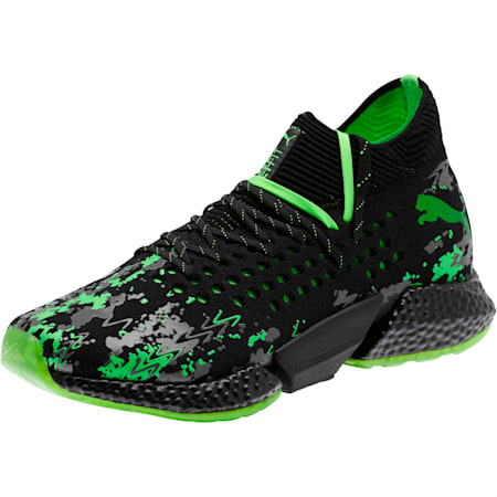 FUTURE Rocket Men's Running Shoes, Black-Gray-Green Gecko, small