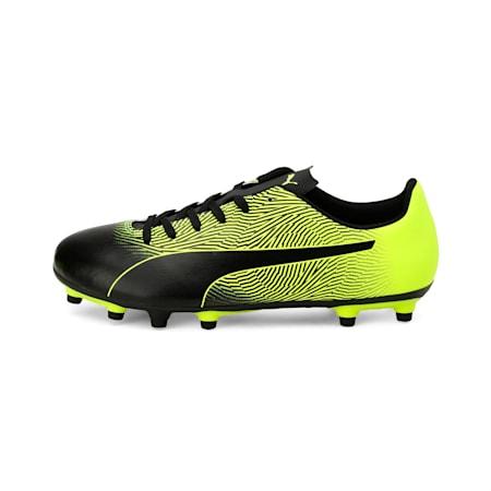 PUMA Spirit II FG Men's Football Boots, Puma Black-Yellow Alert, small-IND