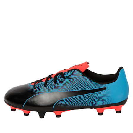 PUMA Spirit II FG Youth Football Boots, Black-Bleu Azur-Red Blast, small-IND