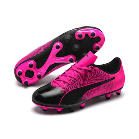 Souliers de soccer à crampons PUMA Spirit II FG, enfant, Noir Puma-ROSE FLAMBOYANT, petit