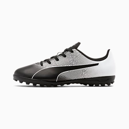 Zapatos de fútbolPUMA Spirit II TT para JR, Puma Black-Puma White, pequeño