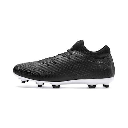 FUTURE 19.4 FG/AG Men's Football Boots, Puma Black-Puma Black-White, small-IND