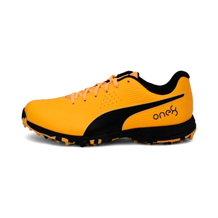 PUMA x one8 Virat Kohli FH Rubber one8 Men's Cricket Shoes, Orange Alert-Puma Black, small-IND