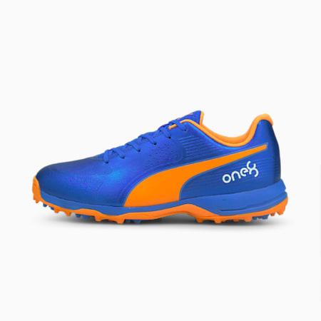 one8 PUMA 19 Virat Kohli Men's Cricket Shoes, Bluemazing-Orange Glow, small-IND