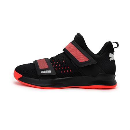 Rise XT3 NETFIT Handball Shoes, Puma Black-Silver-Nrgy Red, small-IND