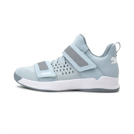 Rise XT3 NETFIT Handball Shoes, Grey Dawn-White-Tradewinds, small-IND