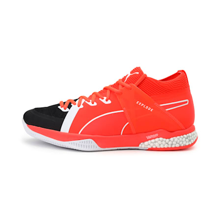 Explode XT HYBRID 1 Indoor Training Trainers, Black-Puma White-Nrgy Red, small-IND