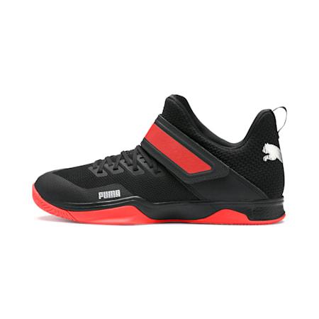 Rise XT3 Handball Shoes, Puma Black-Silver-Nrgy Red, small