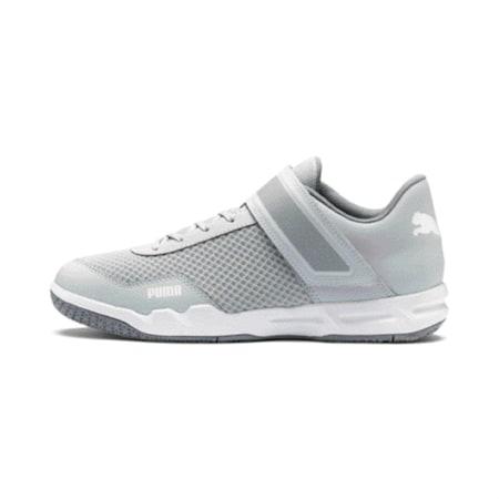 Rise XT 4 Men's Indoor Sports Shoes, Grey Dawn-White-Tradewinds, small-IND