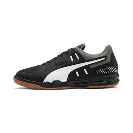 Auriz Indoor Sport Men's Football Boots, Black-White-CASTLEROCK-Gum, small-SEA