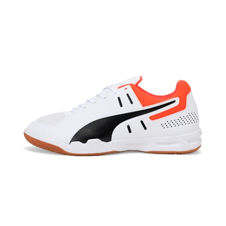 Auriz Indoor Sport Men's Shoes, White-Black-Nrgy Red-Gum, small-IND