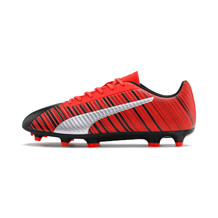PUMA ONE 5.4 Men's FG/AG Football Boots, Black-Nrgy Red-Aged Silver, small-IND