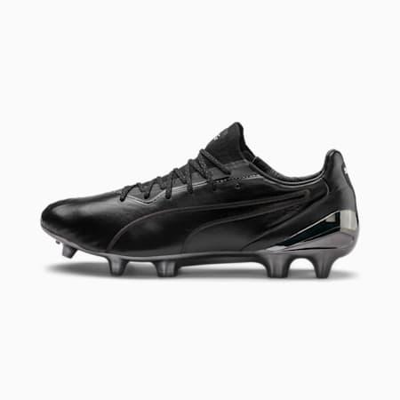 KING Platinum CMEVA Men's FG/AG Football Boots, Puma Black-Puma White, small-IND