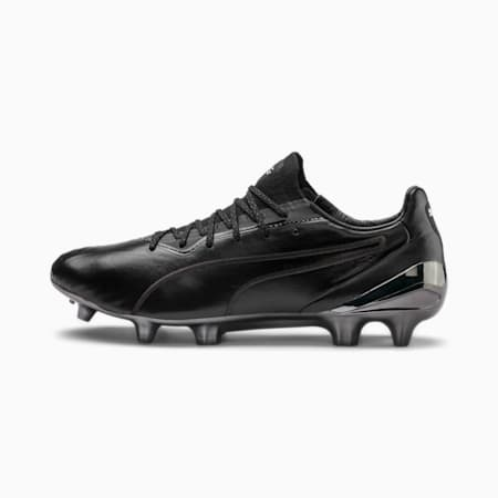 KING Platinum CMEVA Men's FG/AG Football Boots, Puma Black-Puma White, small-IND