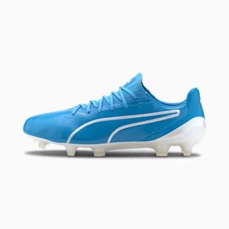 KING Platinum Men's FG/AGFootball Boots, Luminous Blue-Puma White, small