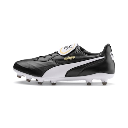 KING Top FG Football Boots, Puma Black-Puma White, small