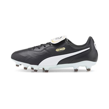 KING Top FG Football Boots, Puma Black-Puma White, small-IND