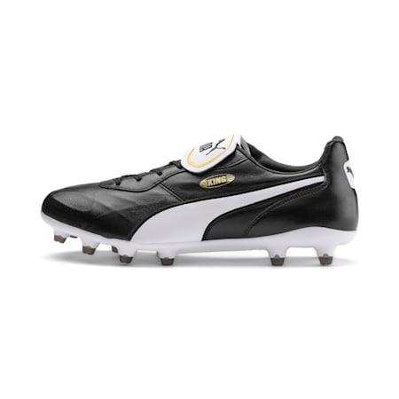 Botines de fútbol King Top FG, Puma Black-Puma White, pequeño