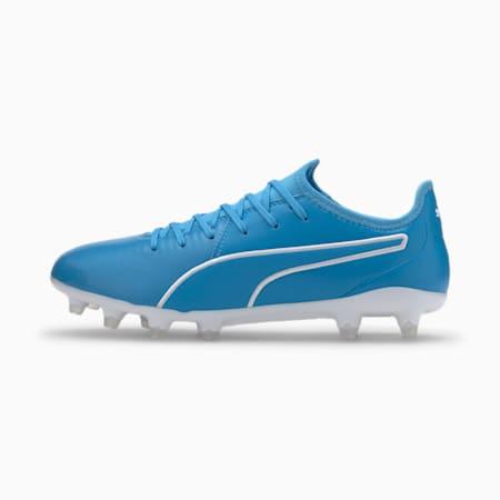 Buty pilkarskie King Pro SG Football Boots, Luminous Blue-Puma White, small