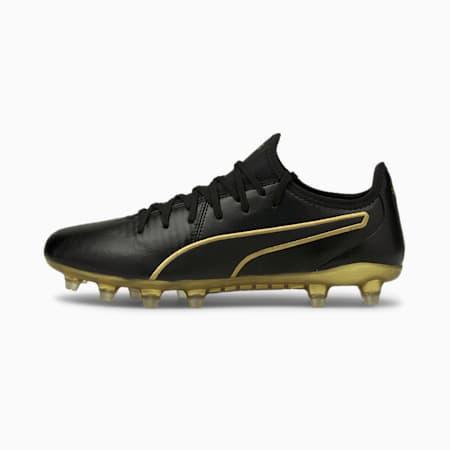 KING Pro FG Football Boots, Puma Black-Puma Team Gold, small-IND