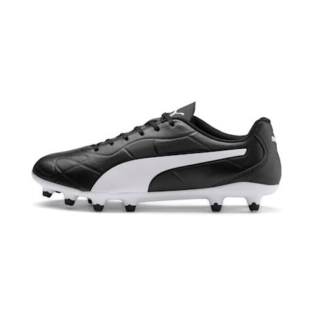Monarch FG Men's Football Boots, Puma Black-Puma White, small-IND