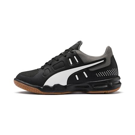 Auriz Youth Football Boots, Black-White-CASTLEROCK-Gum, small