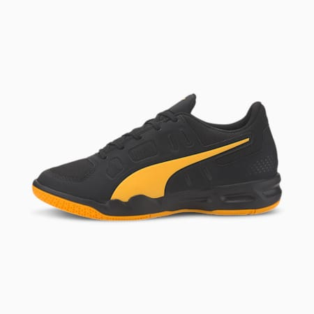 Auriz Youth Football Boots, Puma Black-Orange Alert, small