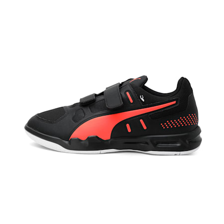 Auriz 2 V Kid's Sneakers, Black-Nrgy Red-Puma White, small-IND