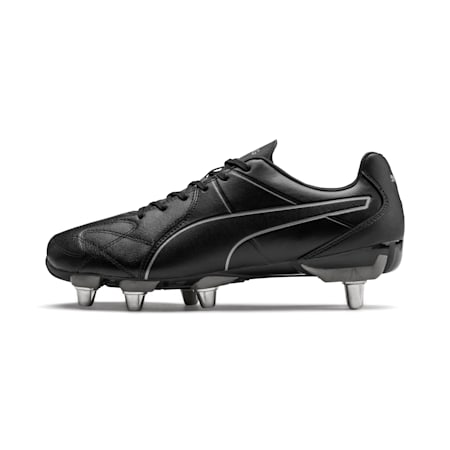 KING Hero H8 Men's Rugby Boots, Puma Black-Puma Aged Silver, small