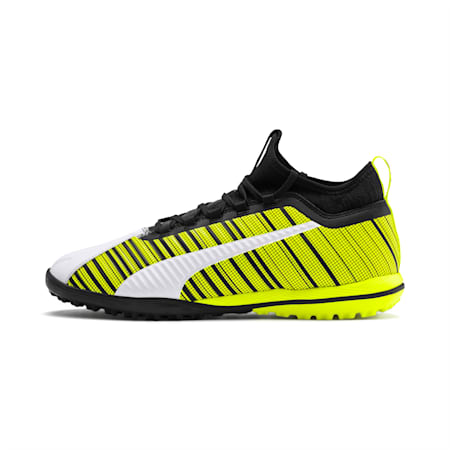 PUMA ONE 5.3 TT Men's Soccer Shoes, White-Black-Yellow Alert, small