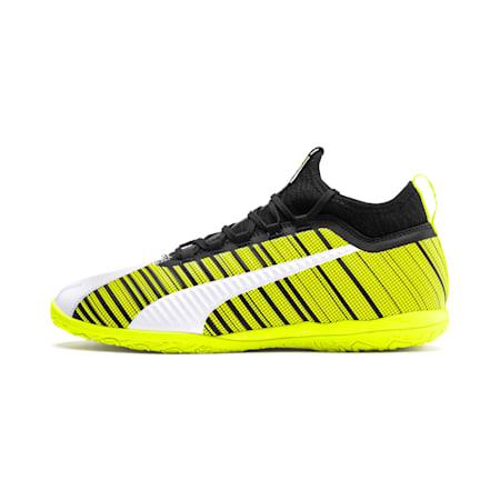 PUMA ONE 5.3 IT Men's Soccer Shoes, White-Black-Yellow Alert, small