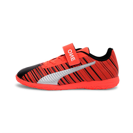 PUMA ONE 5.4 IT V Youth Football Boots, Black-Nrgy Red-Aged Silver, small-IND
