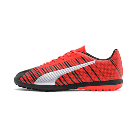 PUMA ONE 5.4 TT Men's Soccer Shoes, Black-Nrgy Red-Aged Silver, small