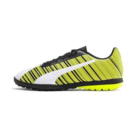 PUMA ONE 5.4 TT Men's Football Boots, White- Black-Yellow Alert, small-SEA