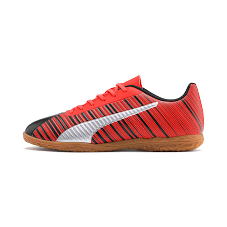 PUMA ONE 5.4 IT Men's Soccer Shoes, Black-Red-Silver-Gum, small